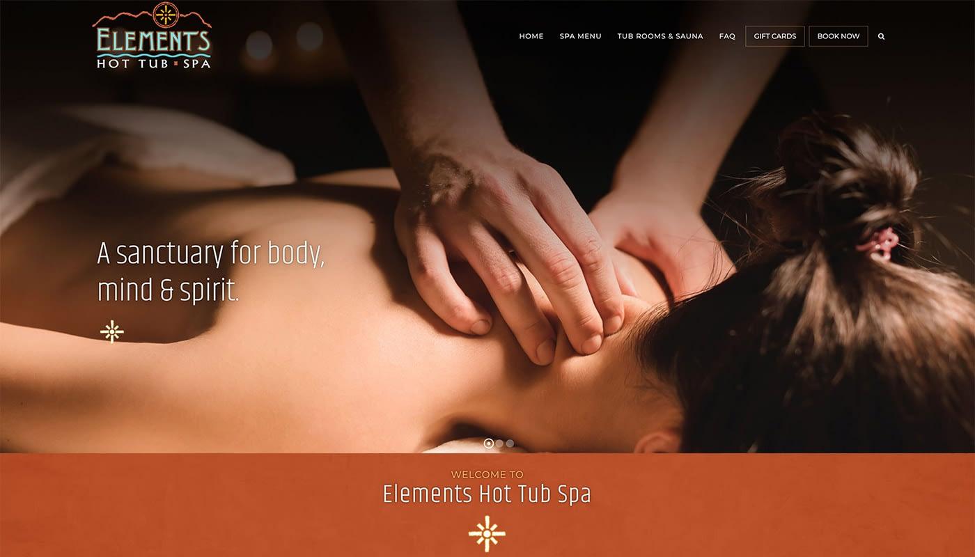 Elements Hot Tub Spa custom web design, Ecommerce Web Design Amherts MA, eCommerce website design, logo design MA, logo design CT, digital marketing agency
