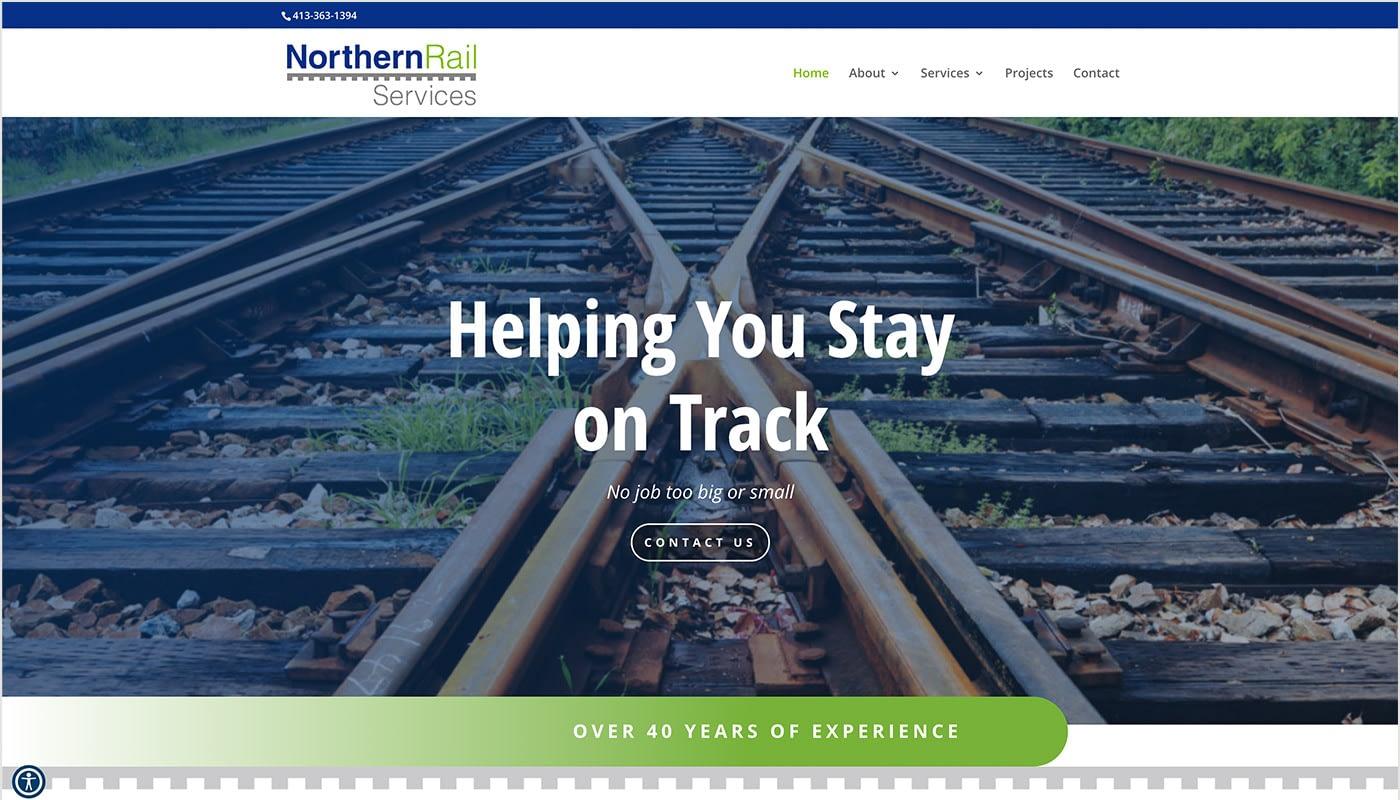 Northern Rail Services website, digital marketing agency MA, full service marketing agency, custom website design Northern CT
