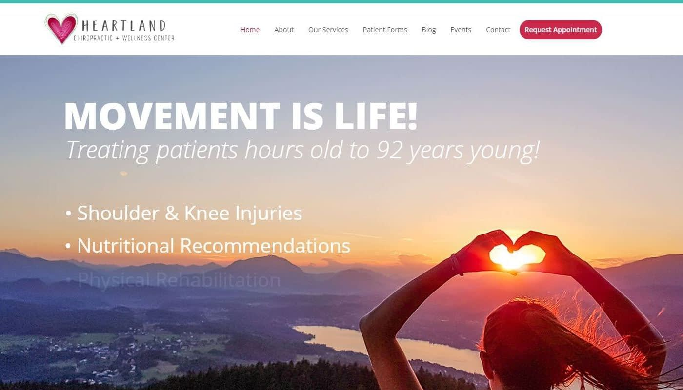 Heartland Wellness WordPress Website Design CT MA