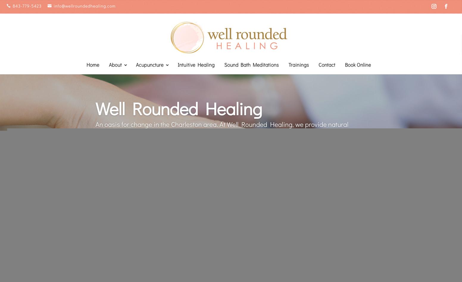 Well Rounded Healing Website, Website Design Charleston SC, Web Design Charleston South Carolina, Marketing Agency Charleston SC, Branding Charleston SC, Graphic Design Charleston SC
