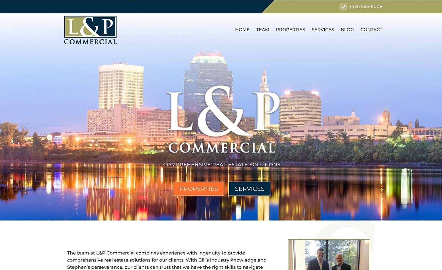 L&P Commercial website design, custom website design Western MA, website design Northern CT, branding, social media marketing MA