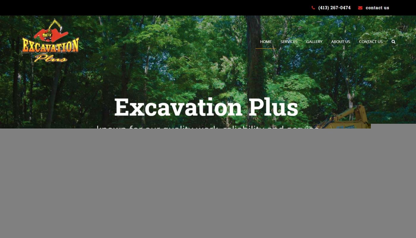 Excavation Plus western mass mobile responsive wordpress web design