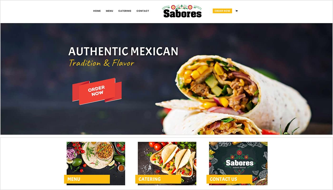 Sabores Authentic Mexican Restaurant website design, website design services Western MA, digital marketing agency Western MA, digital marketing agency Northern CT, graphic design Western MA