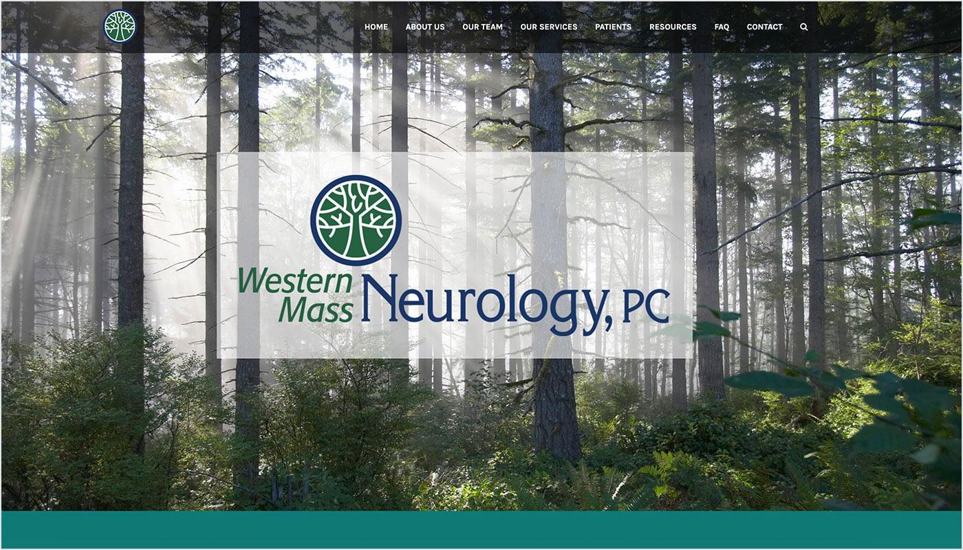 Western Mass Neurology website, website design company Massachusetts, web design company CT, creative agency, digital advertising