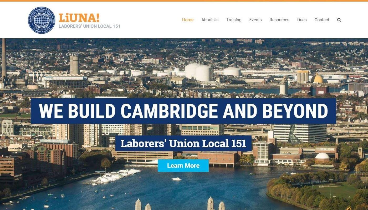 Laborers Local WordPress Website Design Worcester MA