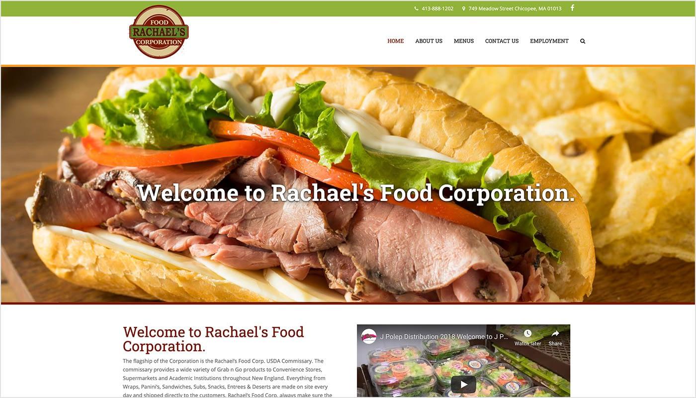 Rachael's-Food-Corporation-Custom-WordPress-Website-Design-Chicopee